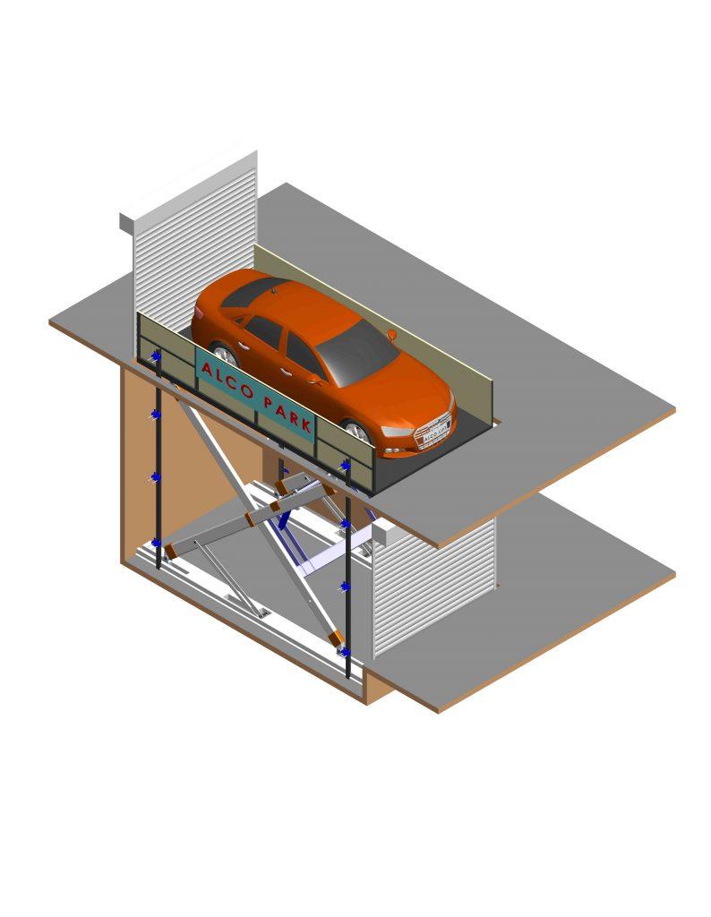 Φωτορεαλιστικός σχεδιασμός ψαλιδωτής πλατφόρμας αυτοκινήτων απο την Alco Lift